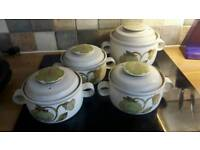 Denby Troubador casserole dishes x4