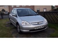 Honda civic 1.6 petrol manual 11 month mot leather interior heated seats cd player 4 great tyres
