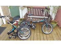 2x Saker Folding Bicycles As New