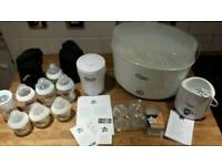 Tommie Tippee Steriliser and feeding equipment