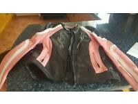 Ladys motor bike leather jacket