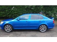 Skoda Octavia VRS CR TDI 2009(2010 facelift)with DSG in Race blue