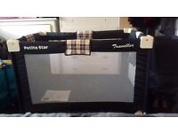 Complete petite star travel cot