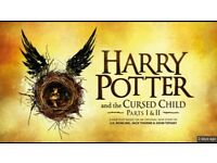 Harry Potter and the Cursed Child tickets. Thurs 10 August (part 1) and Fri 11 August (part 2).