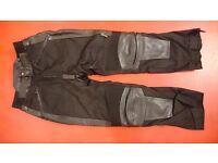 Ladies leather biker trousers