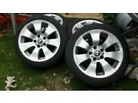 """Set of 17"""" bmw alloys and tyres"""