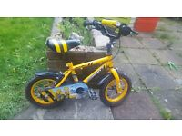 boys 12 inch bike with accessories
