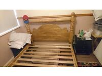 King size Solid pine bed frame ,excellent condition.