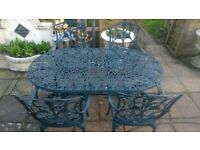 Oval Garden table set- Nova brand plus 4 chairs