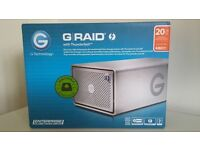 *NEW GRAID - G RAID G-TECHNOLOGY 20TB BUSINESS BACKUP EXTERNAL STORAGE HARD DRIVE USB 3 THUNDERBOLT*