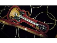 Gibson Midtown Custom 2014 Guitar with Gibson Classic 57 Pick up Upgrade and Brown Hardcase