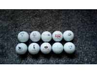 10 golf balls from around the country