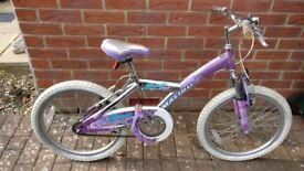 "Girls 20"" Malibu front fork suspension bicycle"