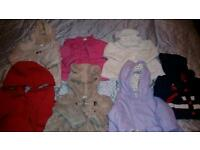 Girls Winter Coats Jackets. Size 3-6 mth. Next, designer, M & S.