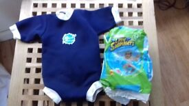 Splash About bodysuit and Little Swimmers nappies