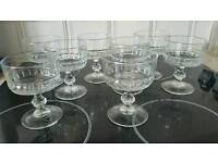 Glass sundea dishes