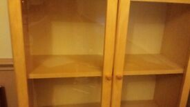 Ikea glass fronted bookcase