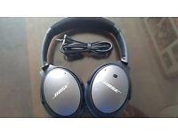 Bose QuietComfort 25 / QC25 Noise Cancelling Headphones - Black/Grey - No case - Good Condition