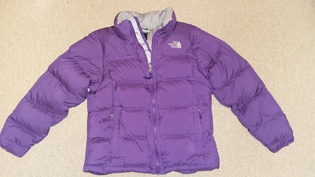 Girls North Face Nuptse Jacket