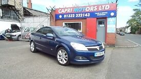 VAUXHALL ASTRA CONVERTIBLE T-TOP DESIGN 1.9 CDTI. FULL SERVICE AND 12 MONTHS M.O.T INCLUDED