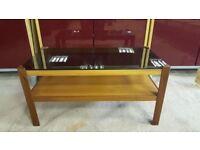 Vintage Smoked Glass Coffee Table
