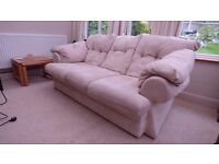 Ivory Suedette Sofa