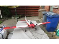 Model Airplane with IC Glow Engine for Radio Control, just needs radio and fuel to fly