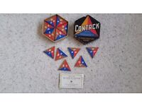 Contack Game, Vintage 1940s for 2-7 players made by John Waddington in Britain. Very good condition