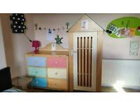 KALOO solid wood chest of drawers and wardrobe