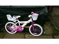 Girls huffy bicycle 16 inch wheels