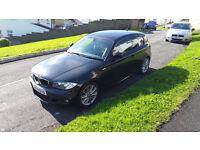 Black BMW 1 SERIES 118D 59 PLATE