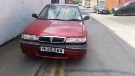 ROVER 214 SEi 1995 SQUARE SHAPE IN RED BREAKING FOR SPARE PARTS