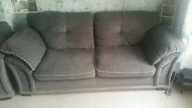 Gray 3 seater couch and chair