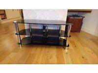 Black, Glass TV Stand