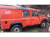 Land Rover Defender 110 with Fairey hydraulic winch and PTO, air brake system