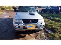 Mitsubishi shogun sport l200 parts breaking bumper lights wheels