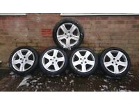 "5 puegeot 16""alloys for sale"