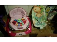 Baby walker/rocker and baby bouncer