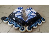 Inline Skate (Roller Blade) with adjustable boot (UK size 1 to 4.5)