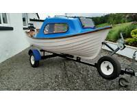 Fishing boat with trailer and Yamaha outboard