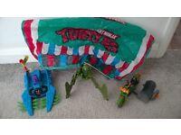 Collection of 3 Teenage Mutant Ninja Turtles Vehicles Original Vintage 80's TMNT