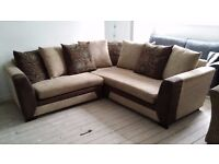 NEW Graded Fabric Corner Sofa Suite FREE LOCAL DELIVERY