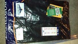 portwest black multi pocket work trousers 38 w 31l new