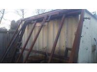 solid steel gate frames 2 sets of gates