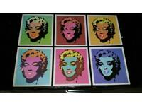 Brand New Marilyn Monroe Pop Art Espresso Set