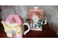 2 x Novelty Collectable house Tea pots