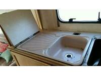 Caravan sink with folding top with mixer tap and plug