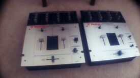 2x Vestax PMC-05 Pro II Scratch DJ Mixers - Need Repairs