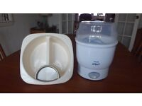 Philips Avent electric steriliser and baby top and tail bowl