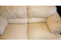 cream leather suite for sale